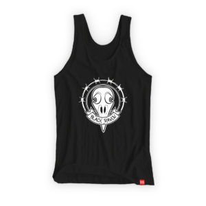 BLACK RAVEN clothing BR-WTT-01 womens tank top RAVEN SKULL