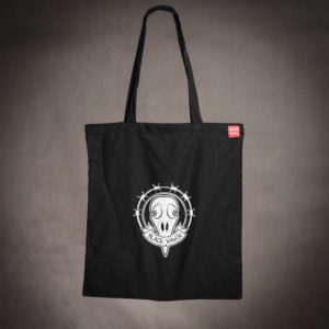 BLACK RAVEN clothing BR-BAG-01 cotton bag raven skull