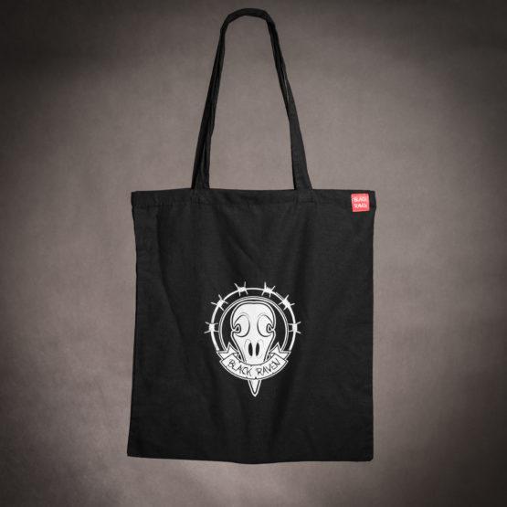 BLACK RAVEN clothing BR-BAG-01 cotton bag raven skull