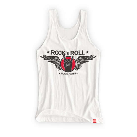 BLACK RAVEN clothing BR-WTT-04 womens tank top ROCK n ROLL