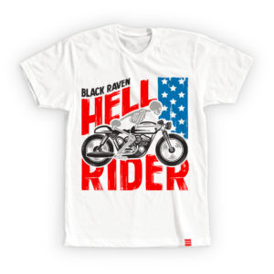 BLACK RAVEN clothing BR-MTS-05 mens t-shirt HELL RIDER