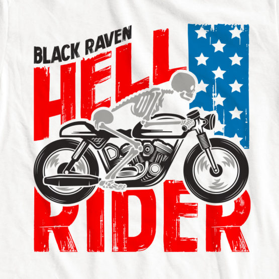 BLACK RAVEN clothing BR-WTT-05 womens tank top HELL RIDER graphic